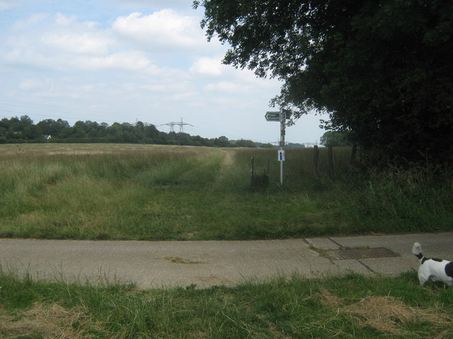 Footpath junction near Sow Wood