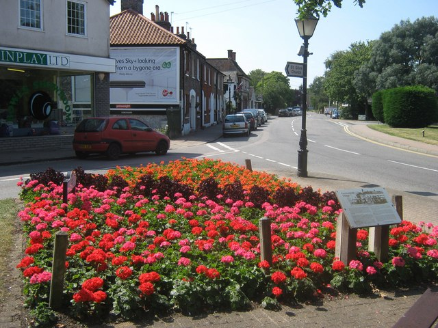 Flower Display beside Farnborough High Street