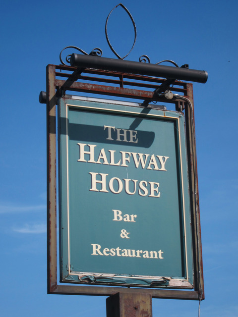 The Halfway House sign
