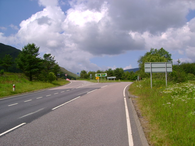 Junction of A82 and A85