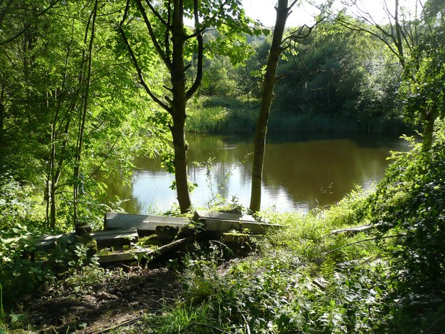 Fishing pond off Roger Gate, Mytholmroyd
