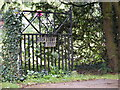 TM3676 : Gate &amp; sign at the entrance to Rockstone Lodge by Adrian Cable