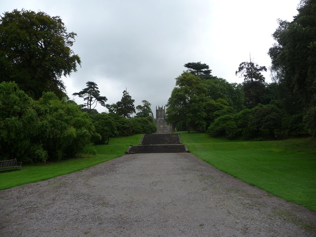 The steps and drive towards Margam Castle
