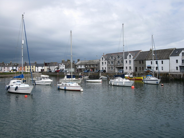 Boats at anchor, Isle of Whithorn