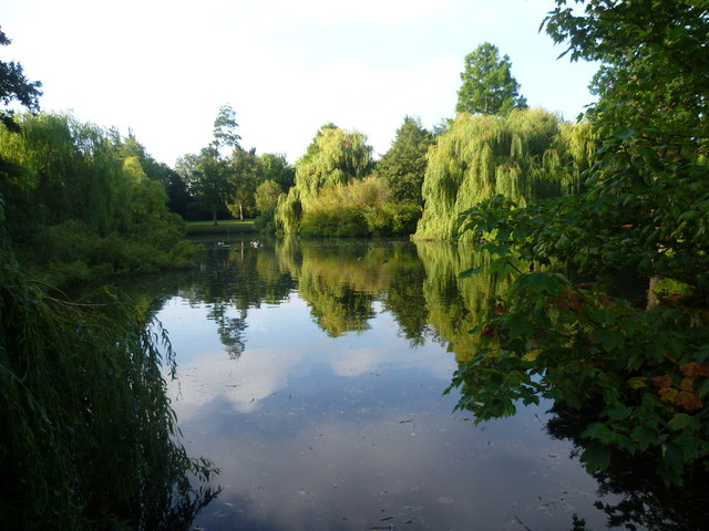 The lake in Priory Gardens, Orpington