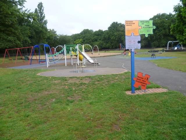 Playground in Poverest Recreation Ground