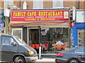 TQ2484 : Family Cafe Restaurant, Willesden Lane, NW6 by Mike Quinn