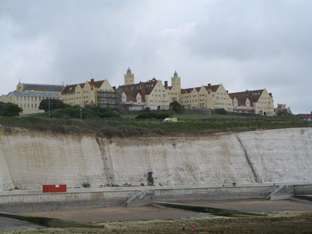 Roedean School and cliffs