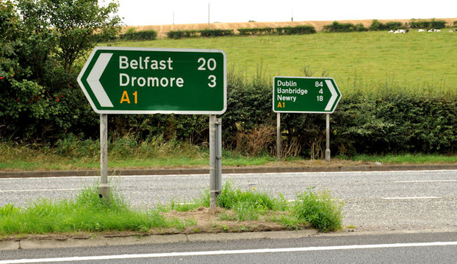 Direction signs near Dromore (2)