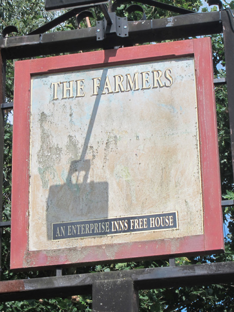 The Farmers sign