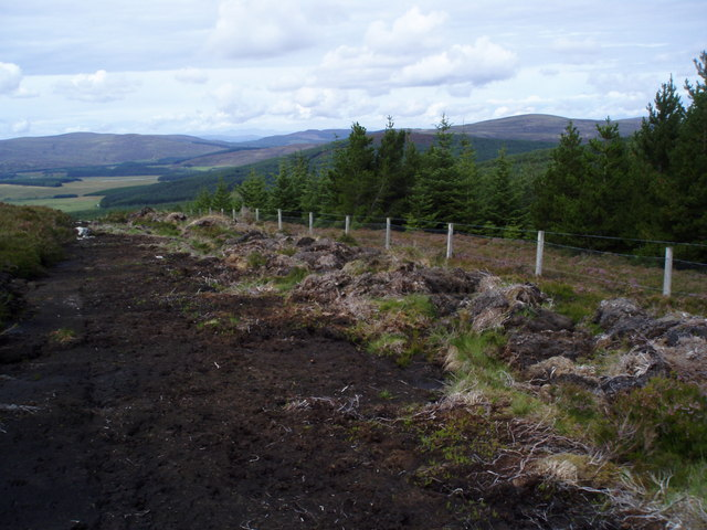 Very boggy new bulldozed track going down to Balvraid Lodge