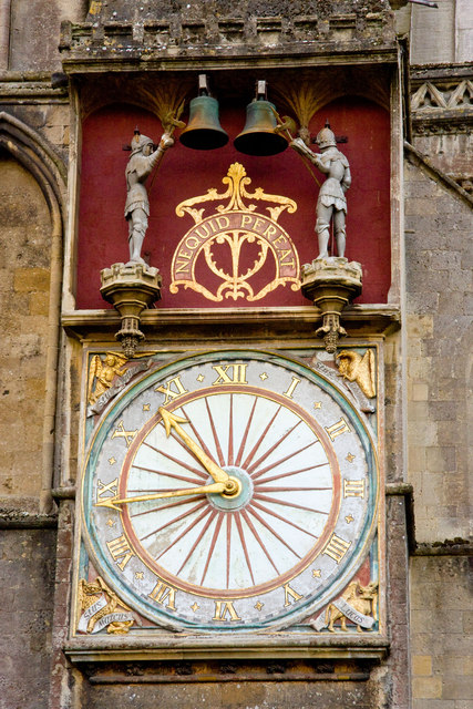 The External Clock Wells Cathedral