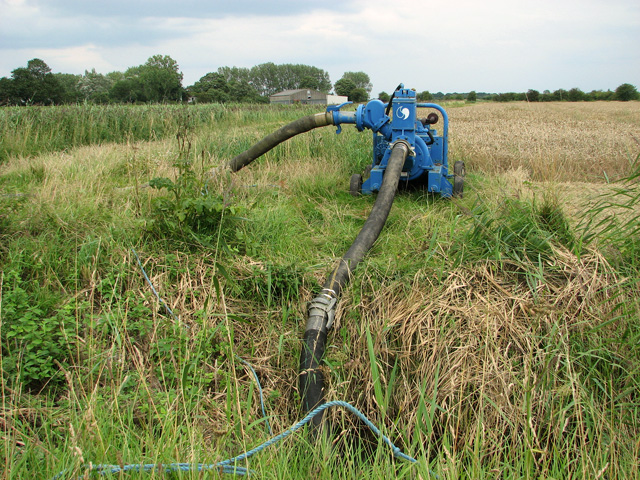 Drainage pump in fields near Ludham