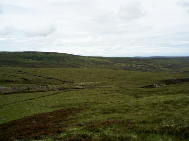 Looking NE from Leac an Daimh across Allt an  Daimh
