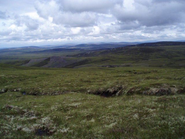 Looking NE across moorland from Leac an Daimh