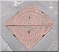 SJ8858 : Pam Inter-ax 2 manhole cover by Jonathan Kington