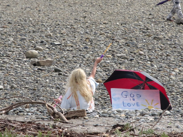"""God is Love"" on Newcastle Beach"