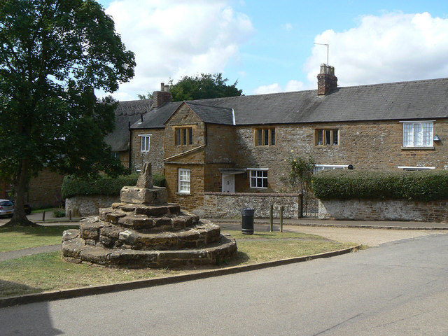 Brixworth cross and The Granary