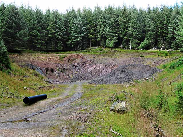Quarry in forest near Middlegill