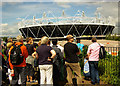 TQ3783 : Olympic Park with guided walking tour participants by Julian Osley