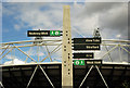 TQ3783 : Greenway waymarker near the Olympic Stadium by Julian Osley