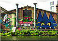 TQ3784 : Graffiti, Fish Island, Hackney Wick by Julian Osley