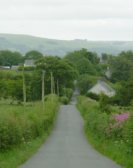 Sarn Helen approaching Stags Head, Ceredigion