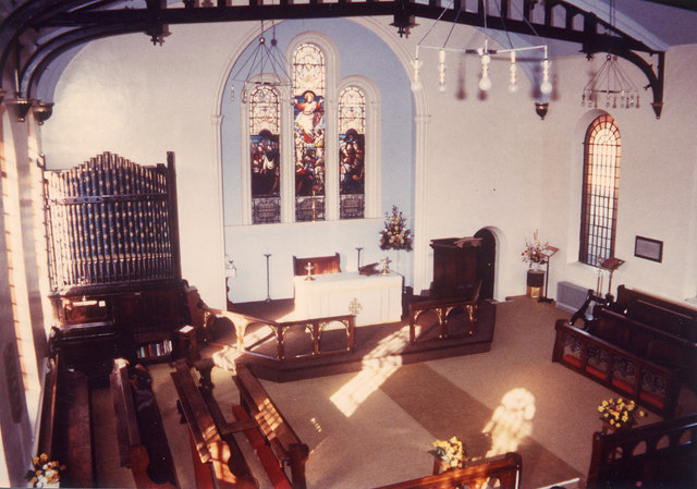 St Peter's Church interior in February 1982