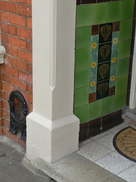 Tiled porch
