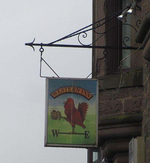 Pub sign, Laurencekirk