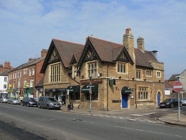 Building on the corner of Wellingborough Road and Whitworth Road