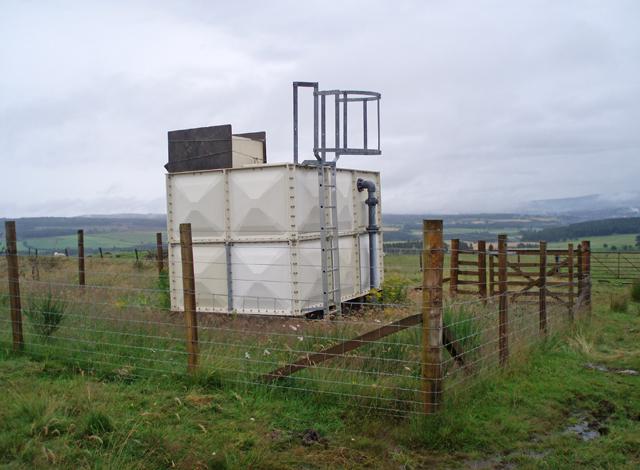 Water tank above Leakin Farm