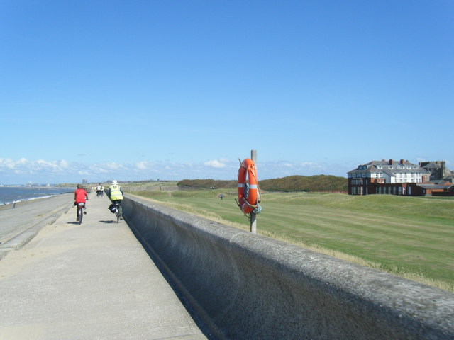 Coastal pathway near Leasowe Castle Hotel