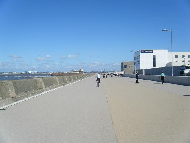 Promenade and new development