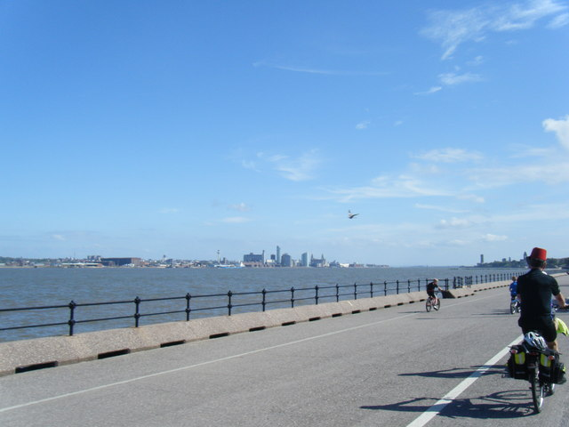 Magazine Promenade with Liverpool in the distance