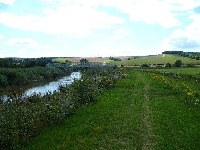 Bridle bridge over the River Arun carrying the South Downs Way