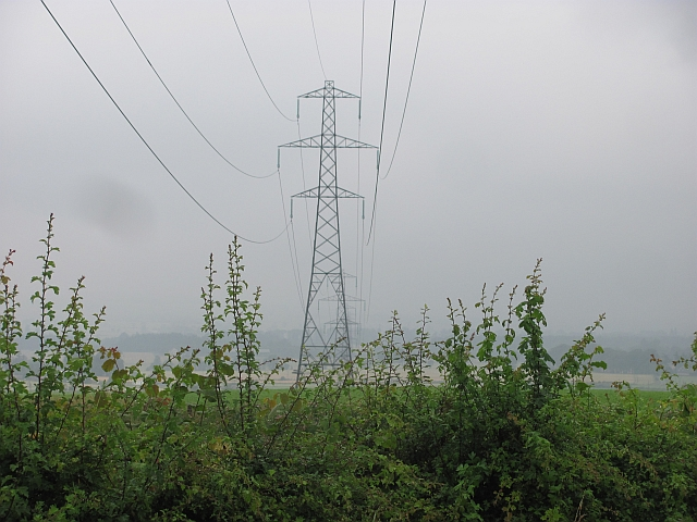Powerlines near South Barns