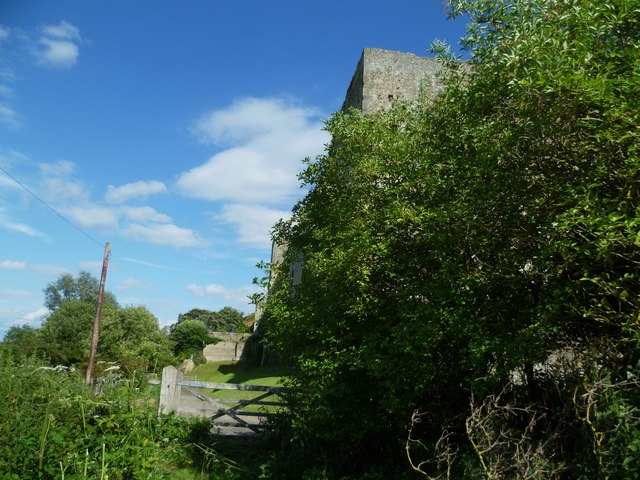 Approach to Amberley Castle from the footpath to the west