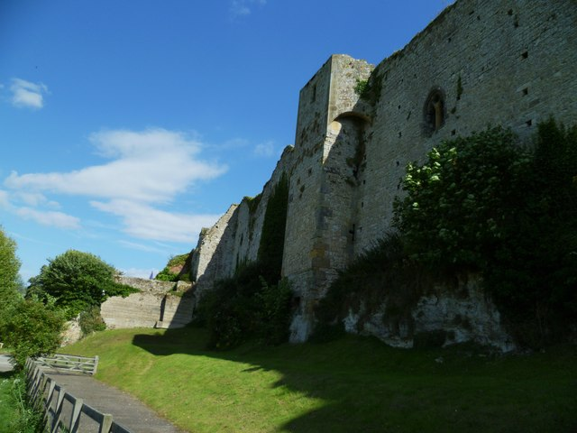 The northern wall of Amberley Castle