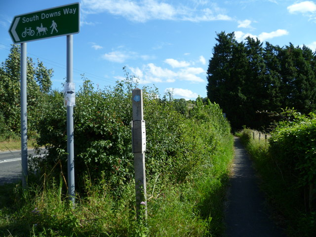The South Downs Way crosses New Barn Road