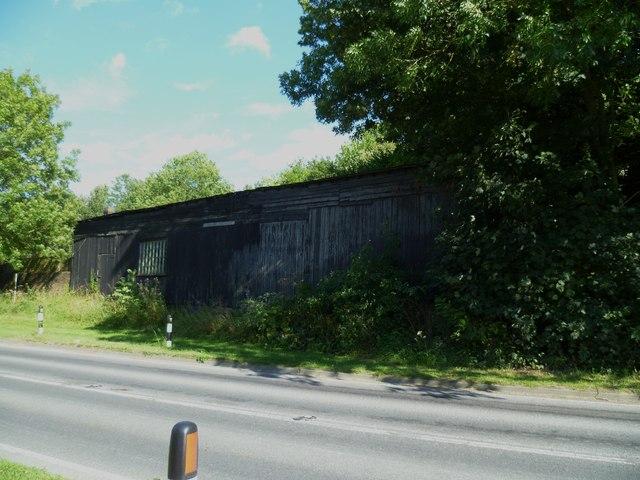 Old barn on Old Barn Road near Amberley Station