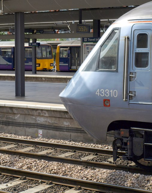 Trains at Leeds Station