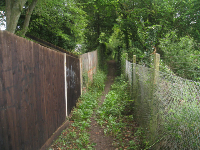 Path behind Kings Orchard
