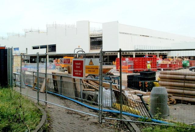 Tesco building site, Newport Retail Park