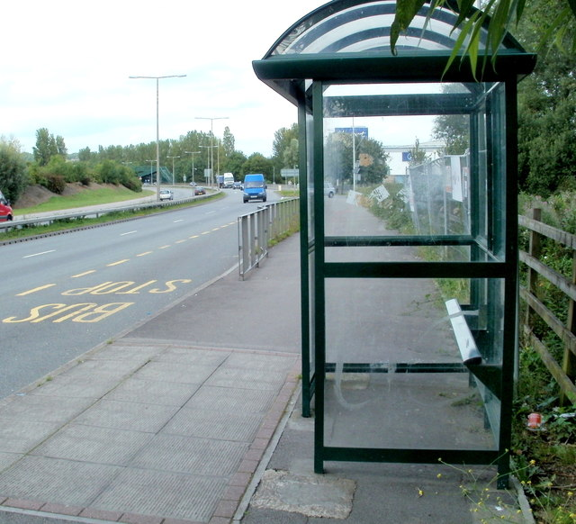 Spytty Road bus shelter, Newport