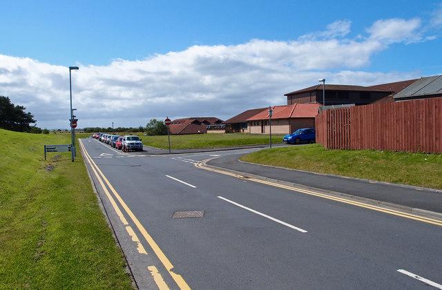 Rear of Ayr Hospital