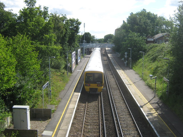 Train at Barnehurst Railway Station