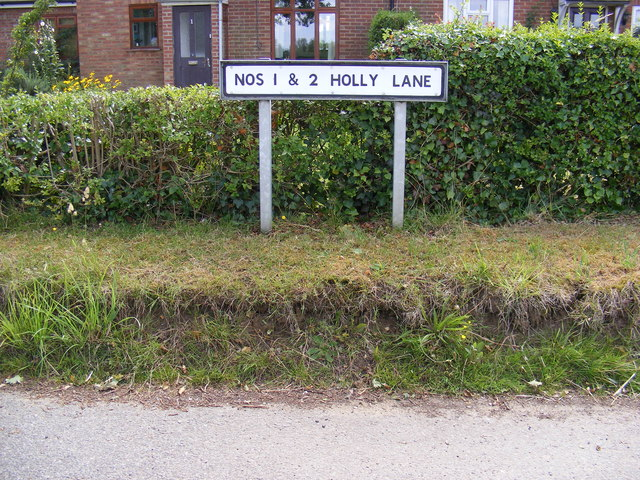 1 & 2 Holly Road sign