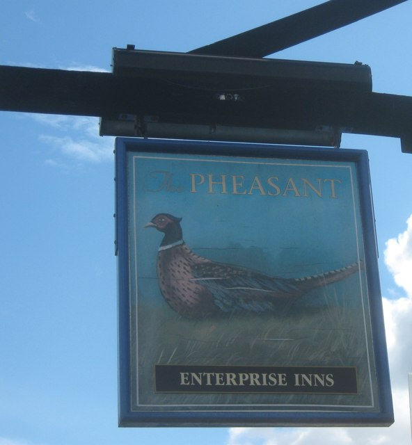 The Pheasant Pub Sign, Northumberland Heath