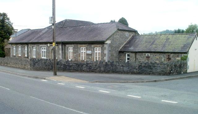 NE corner of Llandovery Hospital